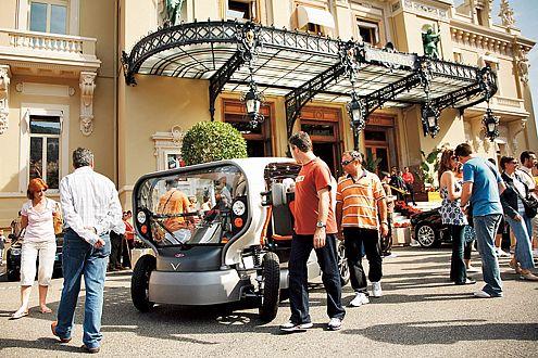 Der Windwagen Venturi Eclectic: eine Touristen-Attraktion in Monaco.