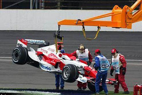 Ralf Schumacher hatte in Indy auch 2007 wieder nur einen Kurzauftritt.