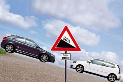 Autos zum halben Preis im Test