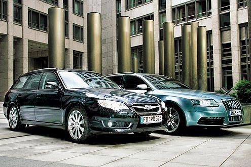 Den Subaru gibt es für 47.190 Euro, den S6 für stattliche 84.500 Euro.