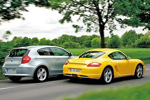 Für den 130i zahlt man 33.200 Euro, für den Cayman S 60.065 Euro.