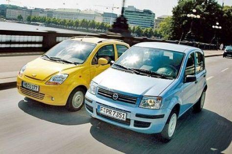 Fiat Panda und Chevrolet Matiz mit Gasantrieb im Test