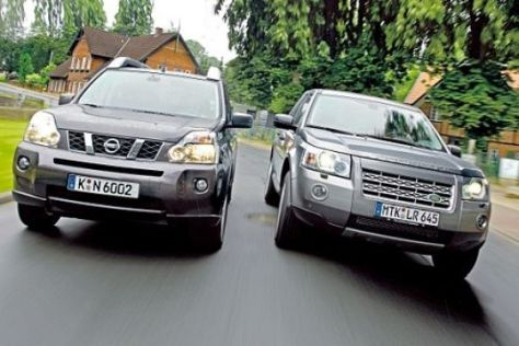 Test Nissan X-Trail/Land Rover Freelander