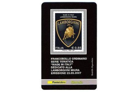 Lamborghini-Briefmarke