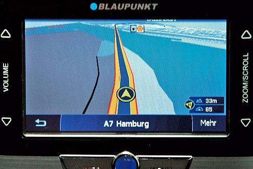 Der TravelLucca 5.2 fährt im Tunnel ohne GPS-Signal.