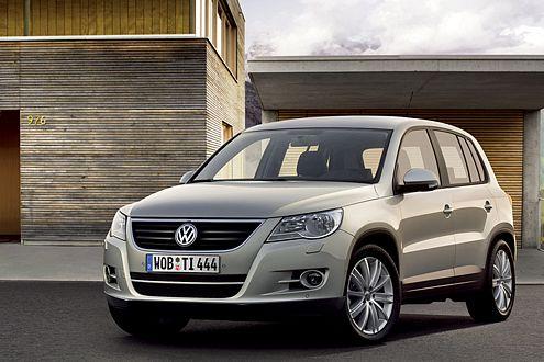Fertig für die Weltpremiere auf der IAA 2007: VW Tiguan im Serien-Trimm.