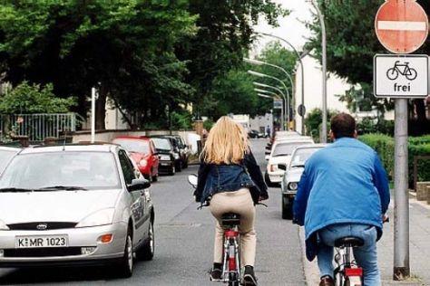 Radfahrer kennen Verkehrsregeln nicht
