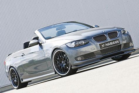 BMW 3er Cabrio seitlich von vorne stehend
