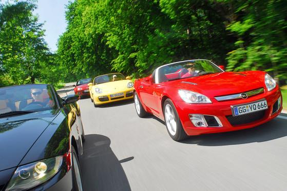 Showmaster: Der Opel GT verzückt durch Form.