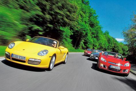 Vier Spaß-Roadster im Vergleich