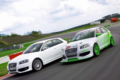 Tracktest Audi S3 gegen A3 24h