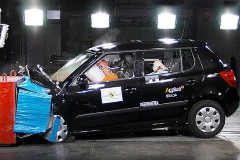 Crashtest Skoda Fabia und Honda Civic