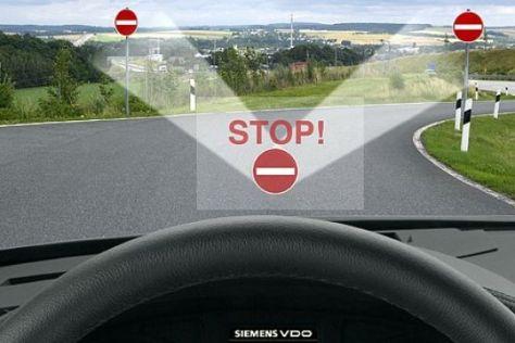 Sicherheitssystem warnt Geisterfahrer