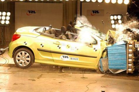 Peugeot 207 CC im Crashtest