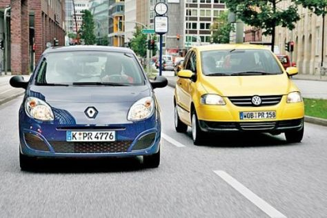 Test Renault Twingo 1.2/VW Fox 1.2