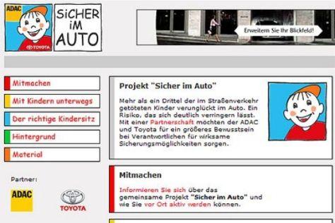 """Internetseite """"Sicher im Auto"""""""