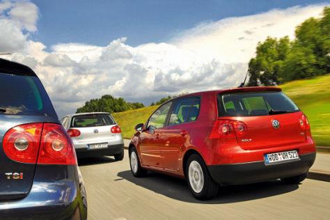 Drei VW Golf im Vergleich