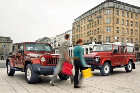 Test Jeep Wrangler/Land Rover Defender