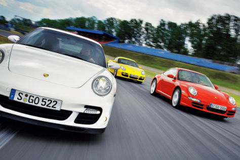 Drei scharfe Porsche im Test