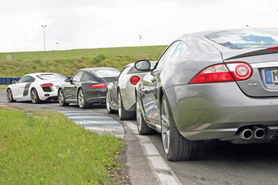 Audi R8 gegen drei Konkurrenten
