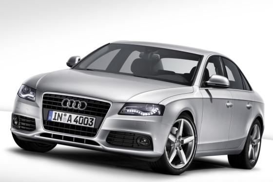 Neue Dynamik: Ähnlichkeiten mit dem Audi A5 sind durchaus gewollt. Verbindendes Element der neuen Audi-Generation: LED-Tagfahrlicht.