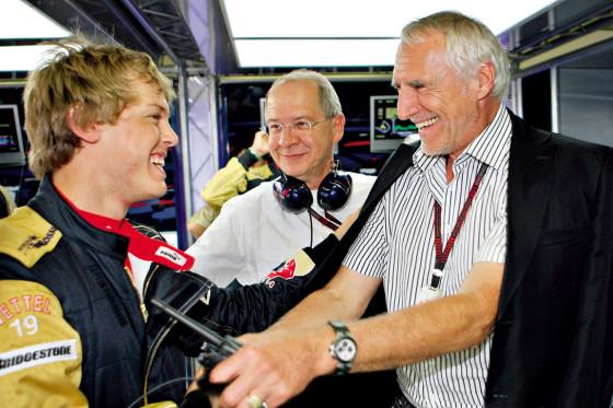 Freunde: Sebastian Vettel mit Red-Bull-Chef Mateschitz (rechts).