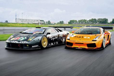 Tracktest Lamborghini Murciélago GT1 gegen Gallardo GT3
