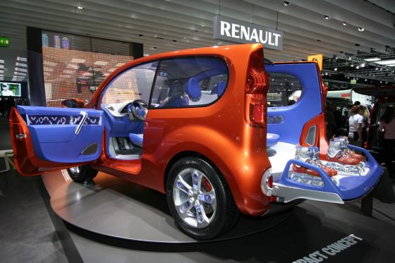 Schrille Farben helfen immer, hier stimmt aber auch das Konzept: Renault schrumpft den Kangoo zum Dreitürer mit hohem Spaß- und Freizeitfaktor.