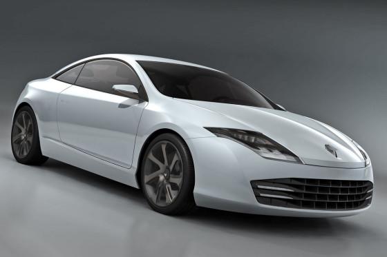 Windschnittiger Adonis: Ein neuer V6-Diesel sorgt beim Laguna Coupé Concept für Vortrieb.