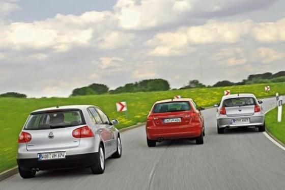 Das CO2 muss runter. Aber der Fahrspaß soll bitte bleiben. Audi A3, BMW 1er und VW Golf stellen sich dieser Aufgabe.