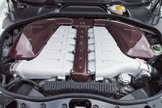 Großer Dampfmacher: Der W12 leistet 650 PS und wuchtet 780 Nm auf die Kurbelwelle.