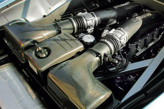 Brutaler Beschleuniger: Dank verbesserter Atmung steigt die Leistung des V8 von 490 auf 510 PS.