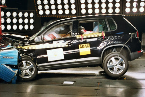 Crashtest VW Tiguan/Caddy