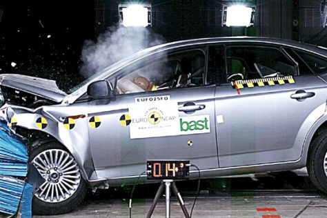 Crashtest Ford Mondeo/Hyundai i30