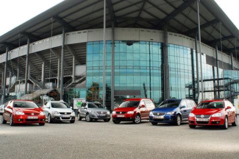 Sechs variable VW im Vergleich