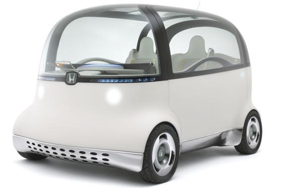 Ein Auto wie ein Ei: Mit dem Puyo zeigt Honda in Tokio ein flippiges Stadtauto mit Gel-Karosserie.