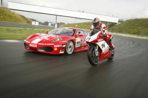 Tracktest Ferrari F430 vs Ducati 1098s