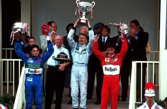 Beim GP von Monaco 1998 passte für ihn alles: Mika Häkkinen siegt vor Giancarlo Fisichella und Eddie Irvine.
