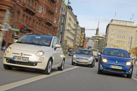 Test Fiat 500/Mini One/Renault Twingo