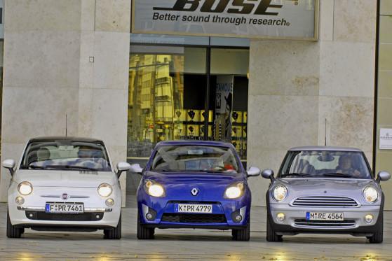 Würde es nur nach dem Kult-Faktor gehen, wäre dem Fiat   die Spitzenposition sicher.