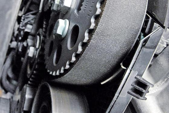 Achillesferse: Der Zahnriemen entscheidet über Wohl und Wehe der TDI-Motoren.