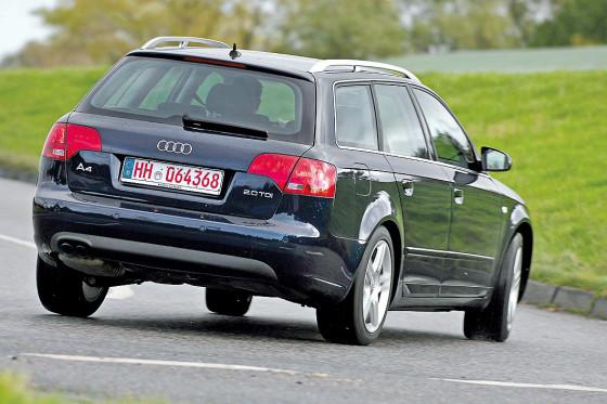 Fahrsicher: Der A4 ist frei von Überraschungen, ESP ist ab Modelljahr 2001 serienmäßig.