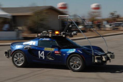 Rennen der Roboterautos