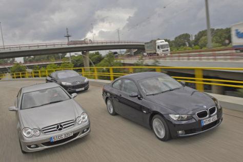 BMW 3er Coupé/Mercedes CLK/ Peugeot 407 Coupé