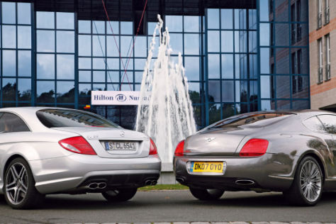 Bentley Continental GT Speed und Mercedes CL 65 AMG