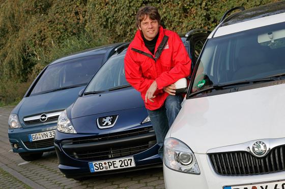 Peugeot 207 SW, Opel Meriva, Skoda Roomster