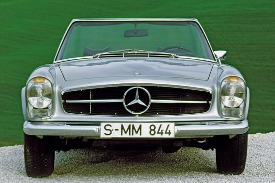 Die Pagode ist ein guter Kauf: Der zu unrecht schlechtgeredete 250 SL ist schon ab 40.000 Euro zu haben.