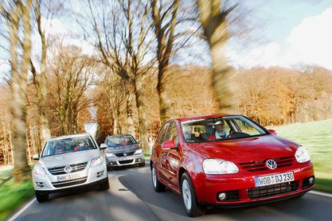 Drei VW im Vergleich