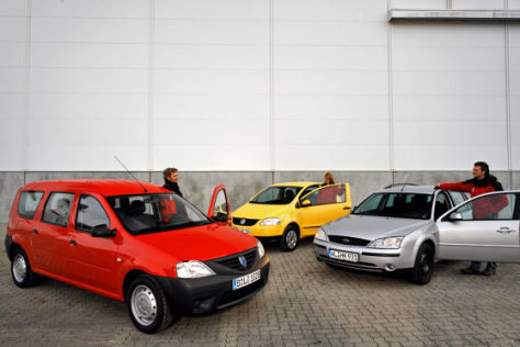 Dacia Logan MCV, VW Fox, Ford Mondeo
