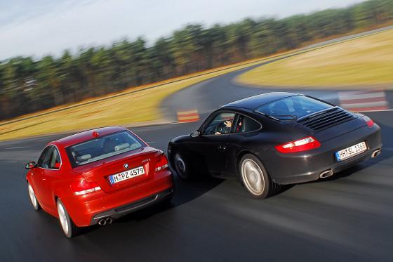 BMW 135i vs. Porsche 911